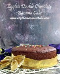 Eggless Whole Wheat Double Chocolate Banana Cake in Pressure Cooker