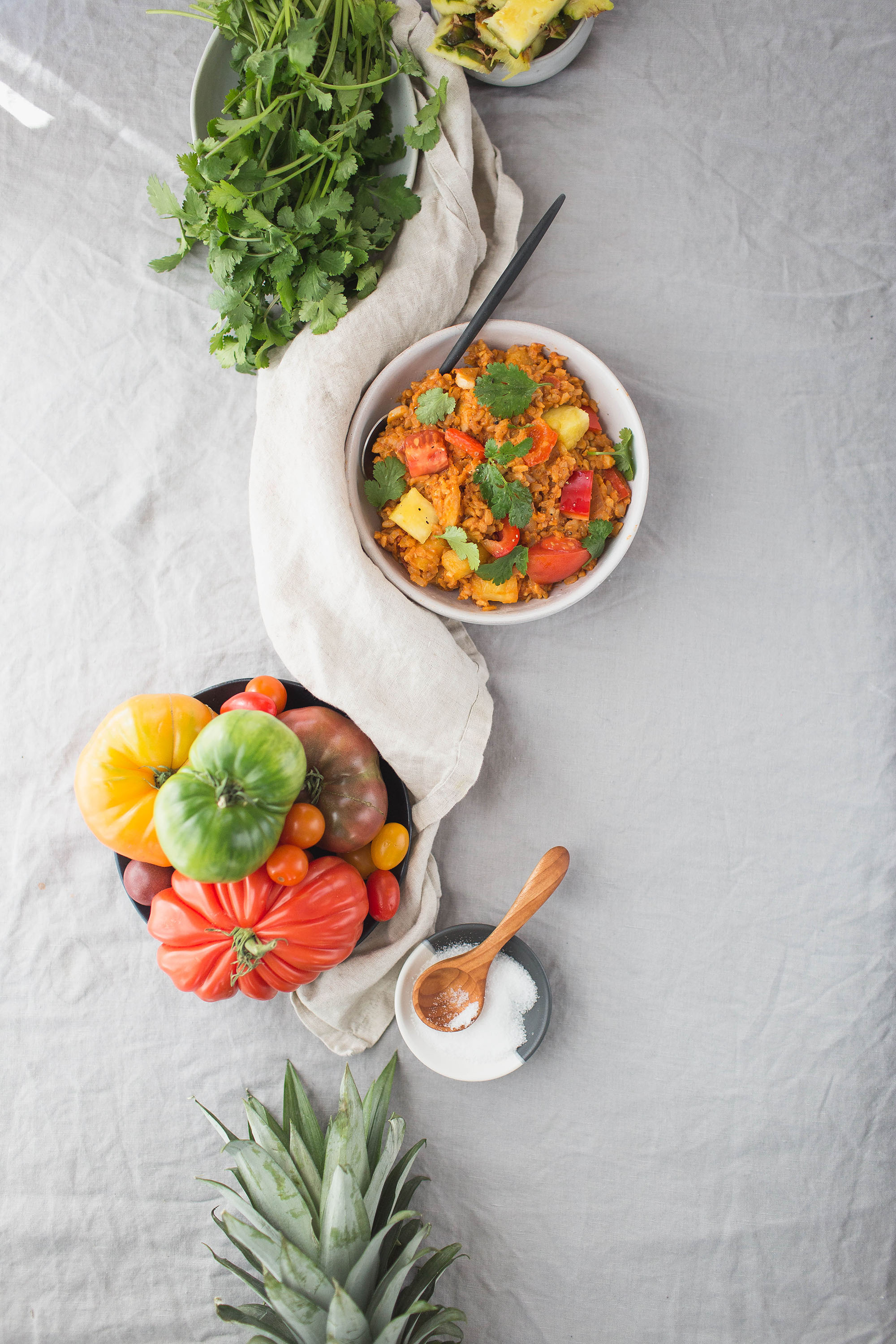 Sweet and Sour Tempeh Rice