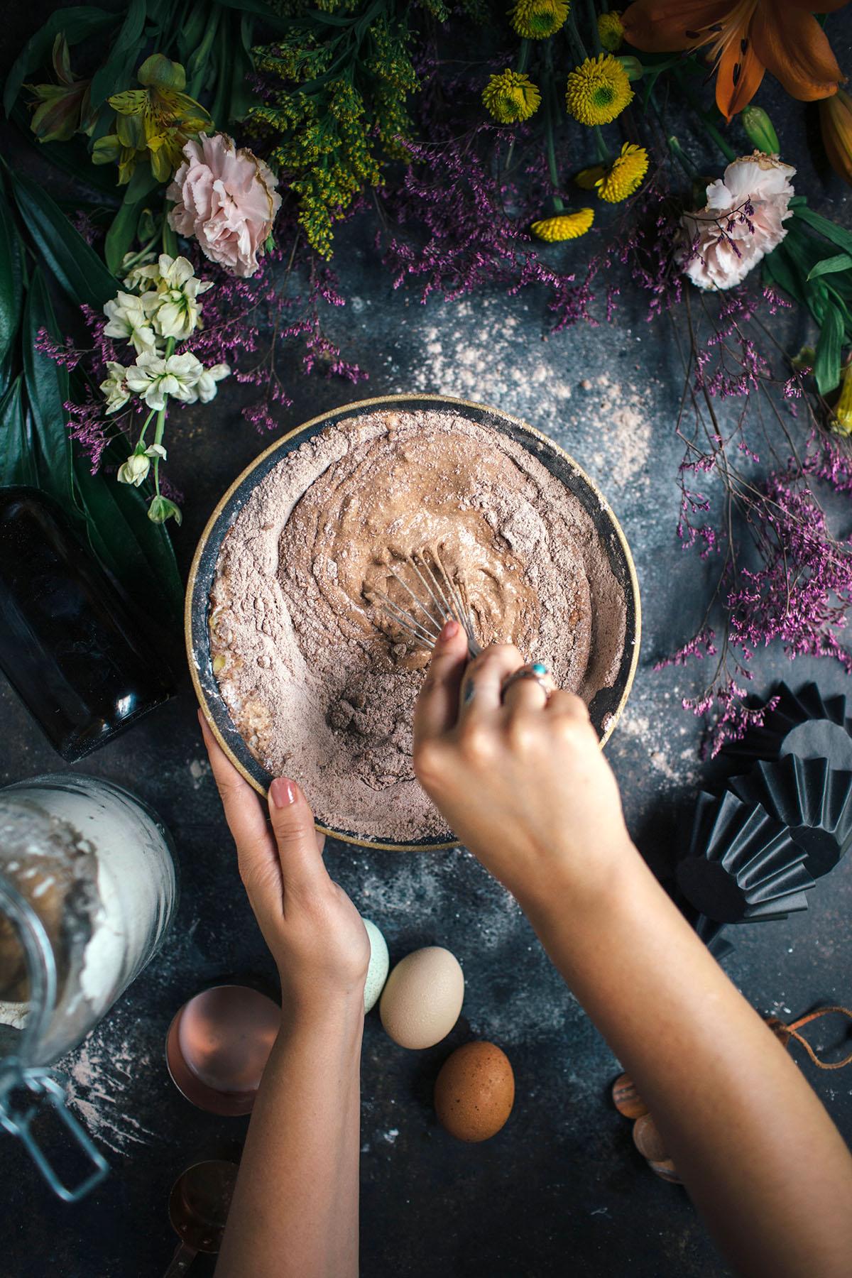 Fudgy Cocoa Ricotta Muffins