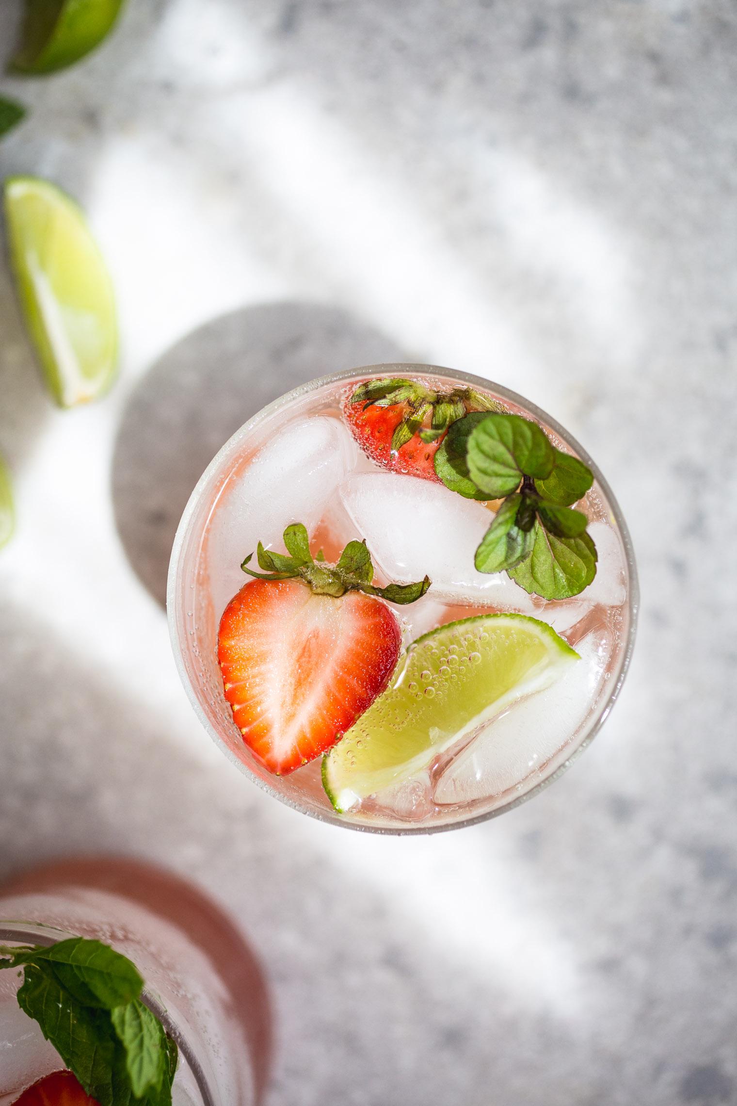 Strawberry Rhubarb Gin & Tonic