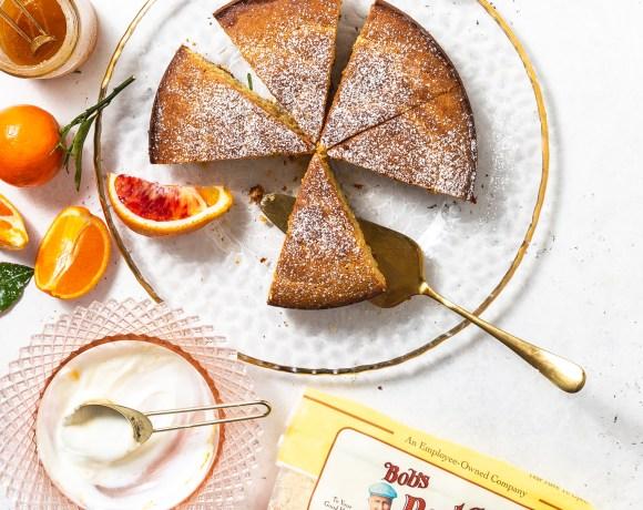 Winter Citrus Almond Cake With Yogurt & Mint