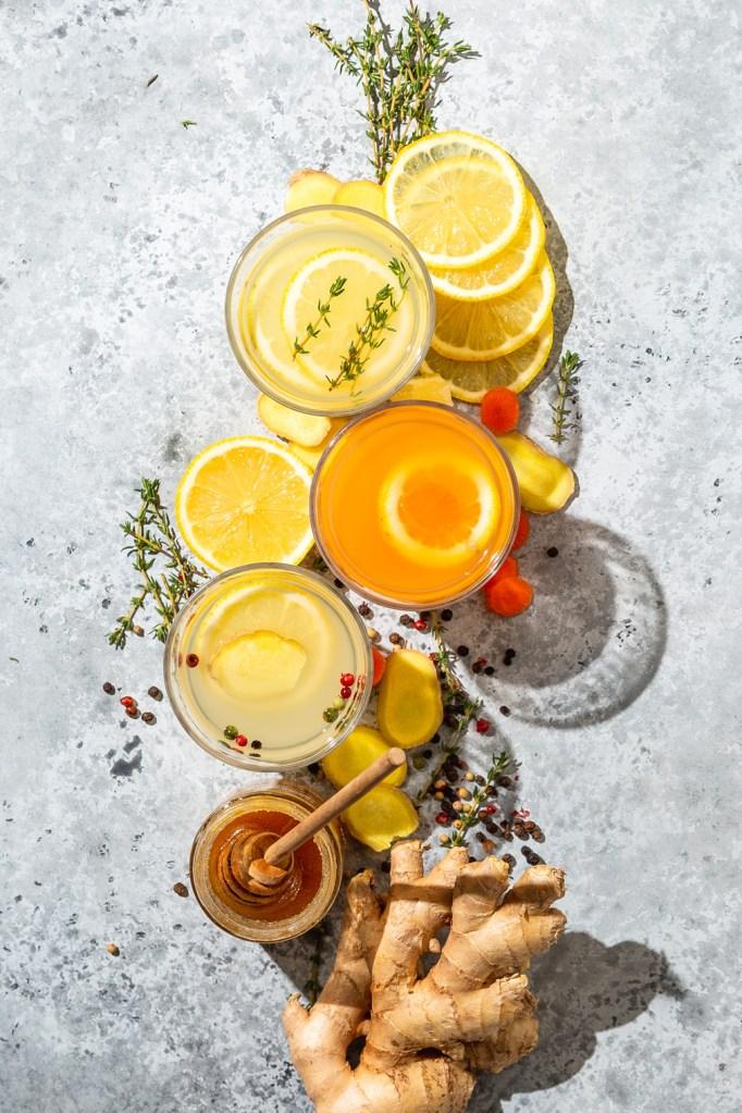 Warming Ginger Lemon Honey Tea