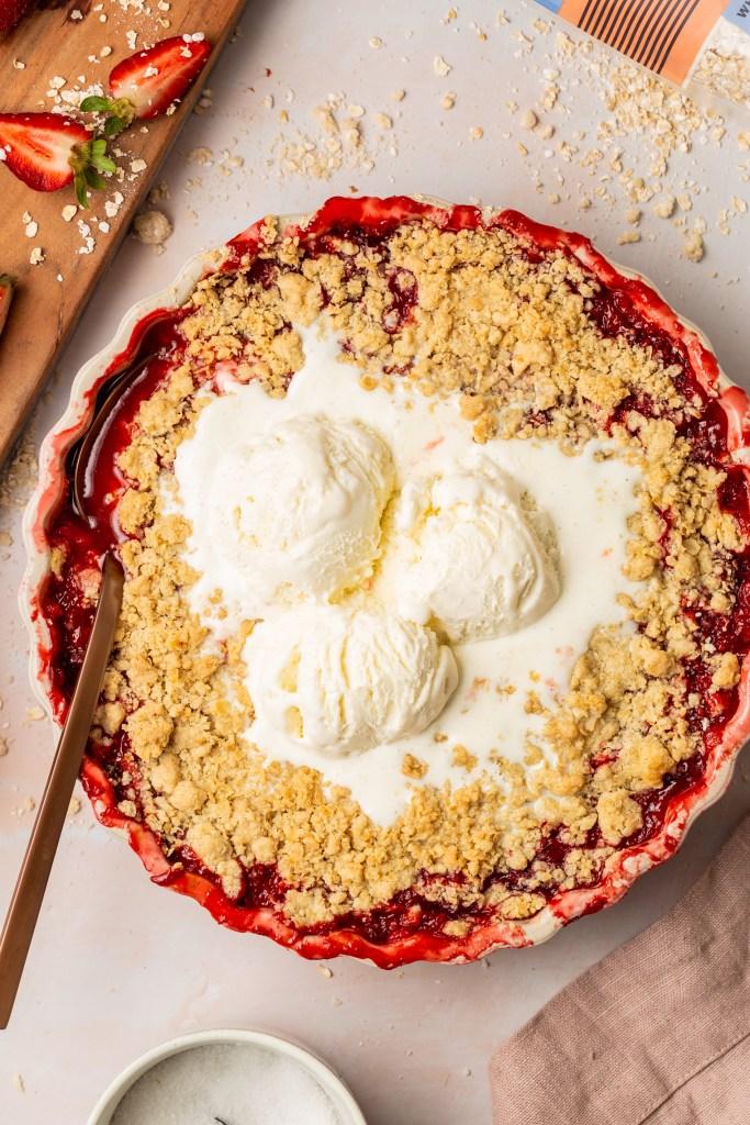 Strawberry Rhubarb Crisp Gluten Free