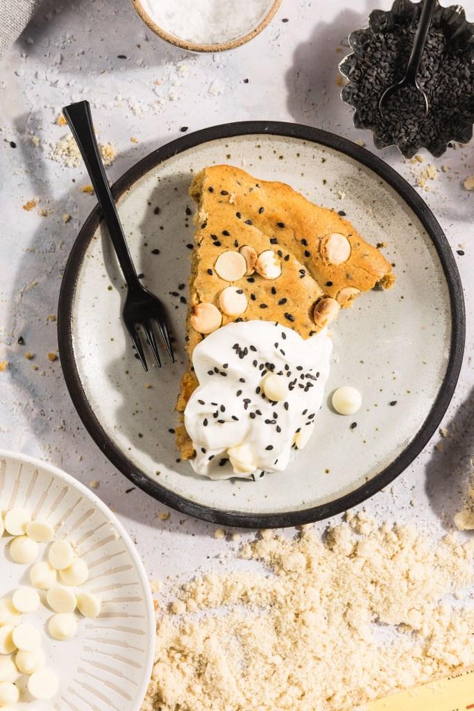 Black Sesame & White Chocolate Breakfast Blondies