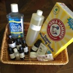image of essential oils and cleaning ingredients