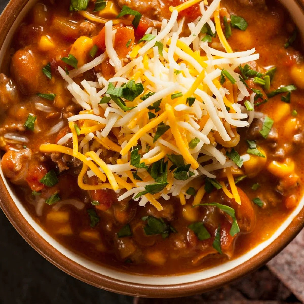 bowl of 4 bean chili