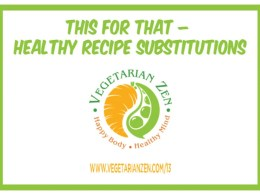 healthy meal substitutions