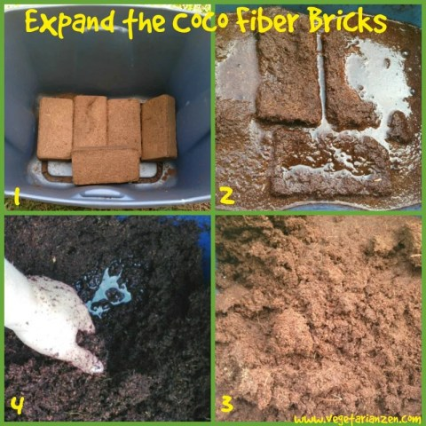 how to expand coco fiber bricks