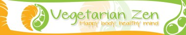 Vegetarian Zen Stylized Header, Vegetarian Zen newsletter https://www.vegetarianzen.com