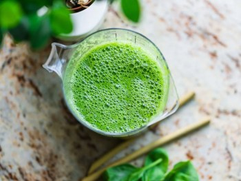 pitcher of green smoothie