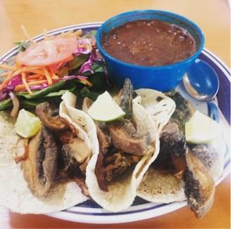 Vegeria Portabella Chicharron Street Tacos https://www.vegetarianzen.com