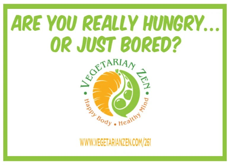 vegetarian zen podcast episode 261 - are you really hungry or just bored