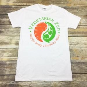 vegetarian zen t-shirt