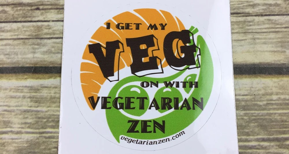 Vegetarian Zen sticker