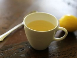hot lemonade for cough