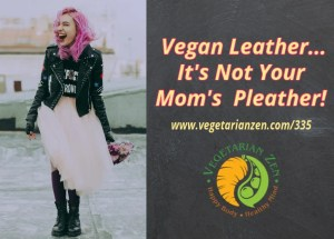 girl with pink hair and flowers wearing vegan leather