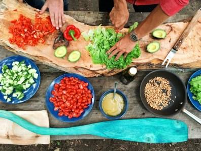 mise en place for vegetarian crockpot recipes