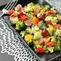 Raw Veggie Chopped Salad (Oil Free)