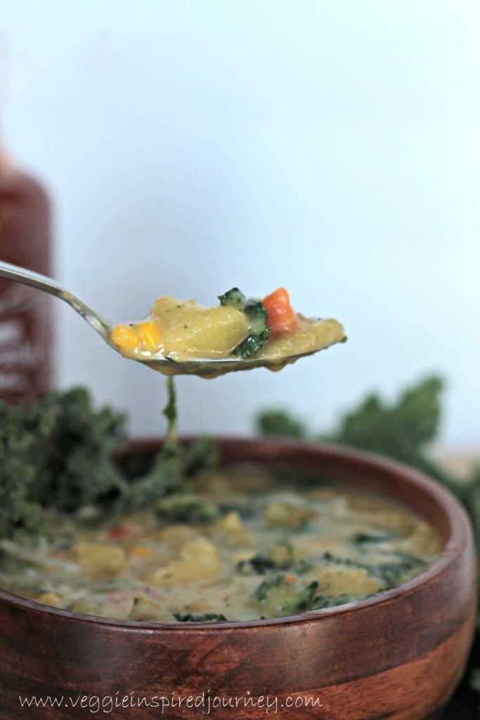 Dairy Free Potato Soup with Kale