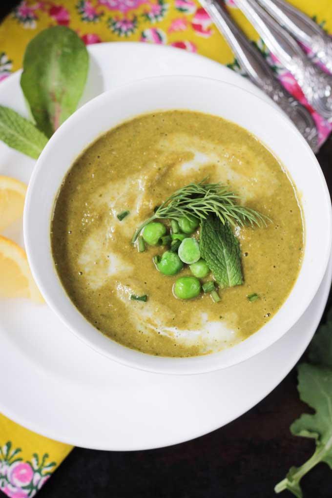 Velvety Green Vegetable Soup