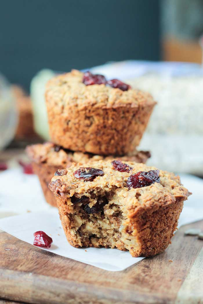 Cranberry Baked Oatmeal Muffins