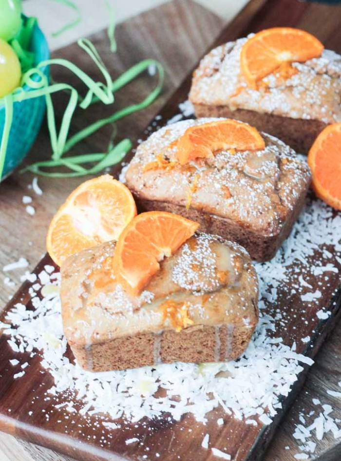Coconut Clementine Mini Loaf Cakes