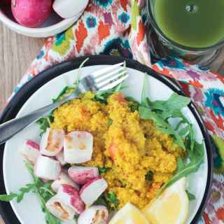 Quinoa Power Breakfast w/ Roasted Radishes