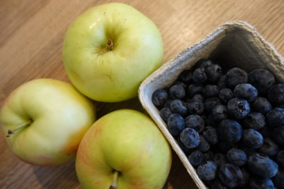 Apples and bilberries