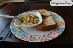 Sprouts salad and hearty sandwich