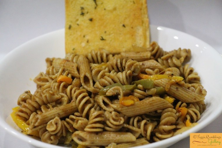 Quick toss pasta with bread