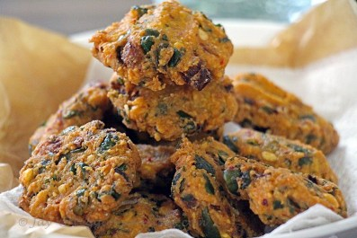 Fried and perfect Kale and Spinach Masala ( Vadai)