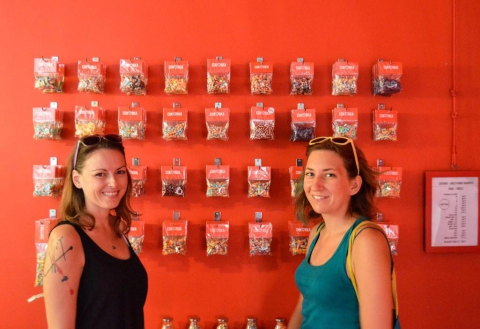Wall of Candy at Cukorka