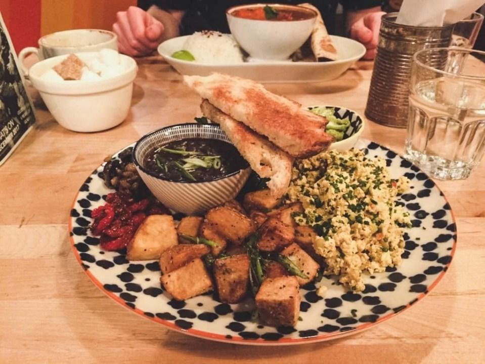 Vegan Breakfast at Glad Cafe in Glasgow