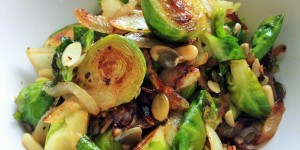 Vegan Pan-Roasted Brussels Sprouts