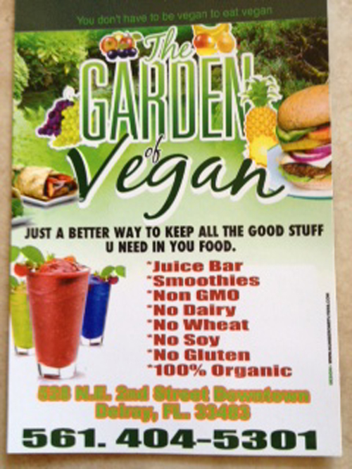 Garden of Vegan: Sign