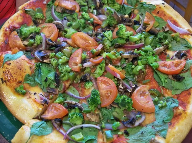 Veggie Pizza Without Cheese