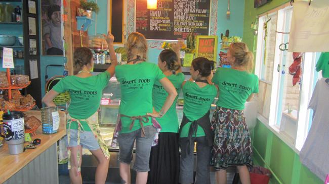 Desert Roots Kitchen Staff