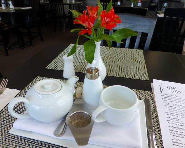 True Bistro's elegant green tea service