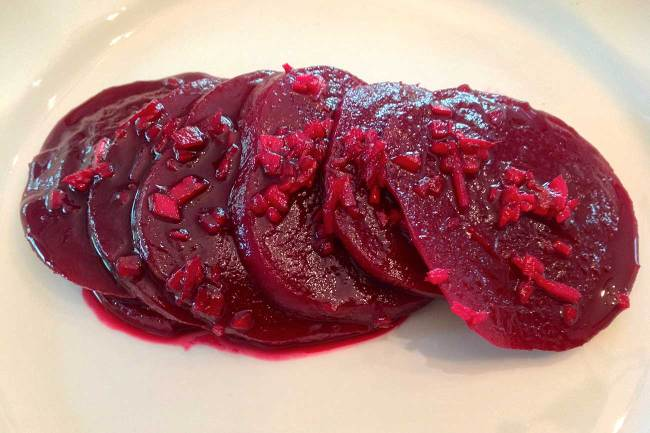 Beets Steeped In Ginger And Pineapple Juice