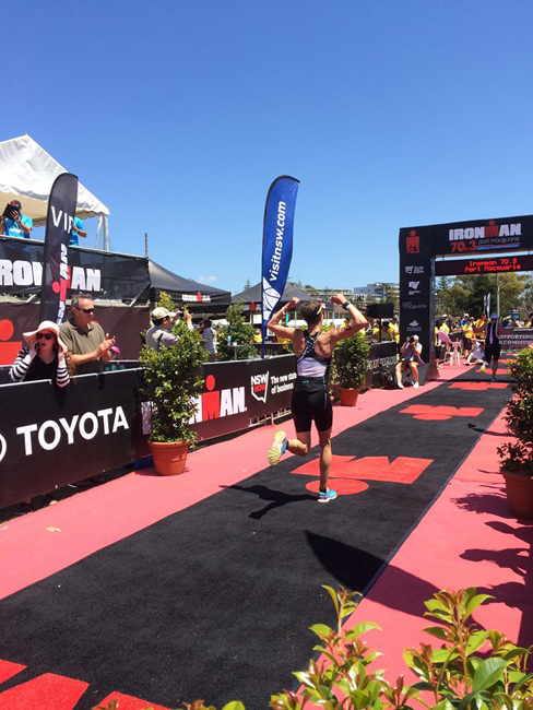 Kate Strong completing Austrailia's Ironman with a new personal best time