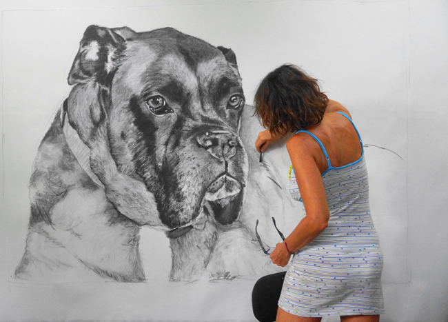 Chantal Dog drawing