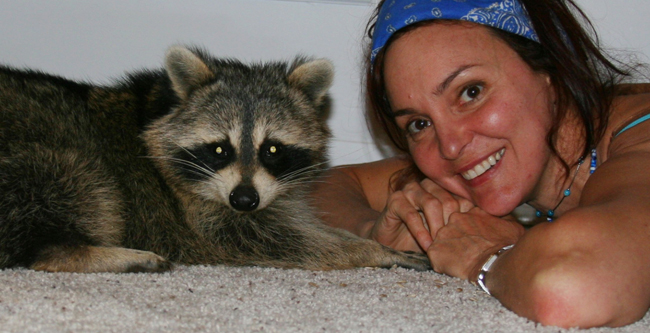 Chantal With Raccoon
