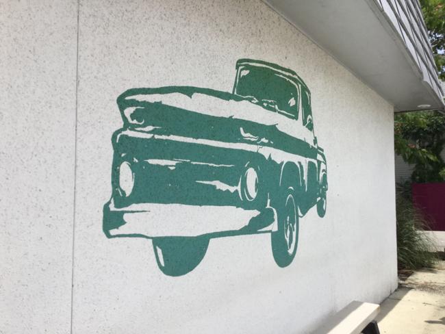 green truck image