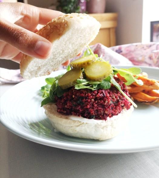 beetroot and quinoa burger recipe