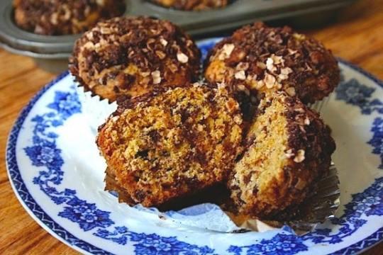 Vegan orange chocolate chip muffin recipe
