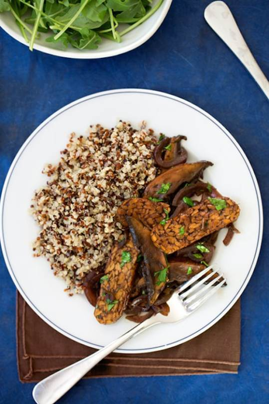 Tangy Tempeh with Portabellas