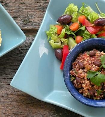Salsa grain and bean pilaf recipe