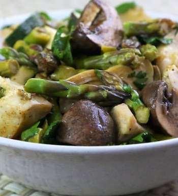 Asparagus, Mushroom, and Artichoke appetizer recipe