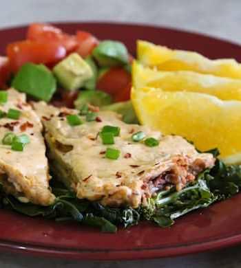 Vegan creamy enchilada casserole