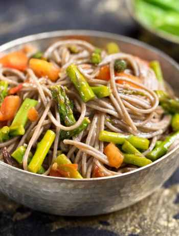 Sweet-and-Sour Soba Noodles with Asparagus